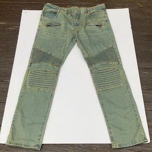 Men Blue Demin Balmain Jeans
